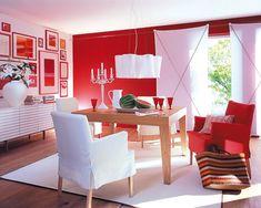 Wand In Rot Plus Sofa In Grau | Farb Gestaltung | Pinterest ... Wohnzimmerwand Rot