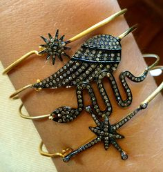 Arm Candy Bracelets, Gold Bracelets, Ring Necklace, Earrings, Fashion Jewellery, Statement Rings, Sparkle, Jewels, Facebook