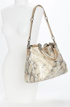 COACH  Madison - Carrie  Python Embossed Leather Shoulder Bag at Nordstrom. f170b010d851f