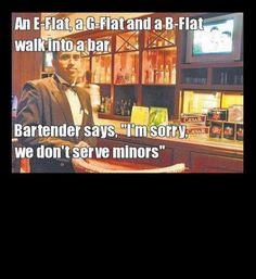 musical minors bar pun joke, funny puns