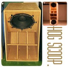 Hog scoop. Speaker Box Design, Monitor Speakers, Horns, Beats, Headphones, Audio, Woodworking, Klipsch Speakers, Crates