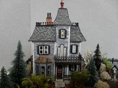 Made-to-order Haunted Dollhouse Property 1:144 Scale. $160.00, via Etsy.