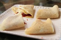 Icelandic pancakes!  So easy...Make crepes, let them cool, and then fill and fold.  Get printable recipe. :)