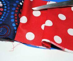 Start making your pleats.