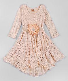 Cream Lace Audrey Twirl Dress - Toddler & Girls by Mia Belle Baby #zulily #zulilyfinds