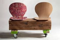 great idea for chairs with broken legs. Love the casters so you can easily move where needed