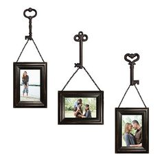Buy Wall Solutions 6-Piece Frame and Key Set in Distressed Black from Bed Bath & Beyond... $29.99