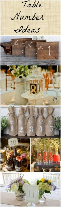 Wedding Table Number Ideas www.rusticweddingchic.com