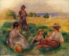 Titre de l'image : Pierre-Auguste Renoir - Party in the Country at Berneval
