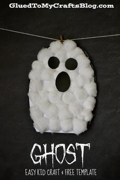 Glued to my Crafts: Halloween Ghost {Kid Craft}
