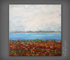 Original painting abstract landscape on by GeorgievaArtStudio, $250.00