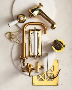 Decorate with Brass - With its tested durability, brass is an ideal metal to use in the washroom.