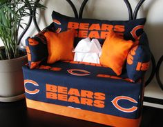 Hey, I found this really awesome Etsy listing at http://www.etsy.com/listing/114320533/chicago-bears-tissue-box-couch-cover
