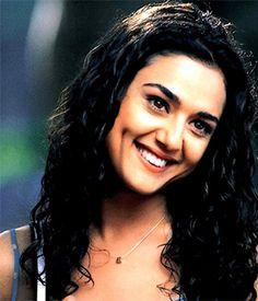 Bollywood star preity zinta with dimples
