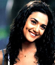 Bollywood star preity zinta with dimples
