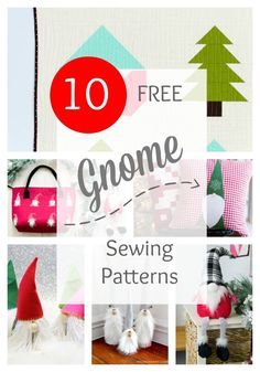10 Free Gnome Projects — SewCanShe | Free Sewing Patterns and Tutorials Christmas Sewing Patterns, Christmas Sewing Projects, Easy Sewing Projects, Sewing Patterns Free, Free Sewing, Free Pattern, Sewing Ideas, Sewing Diy, Sewing Crafts