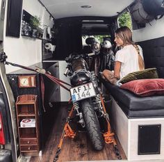 Our home on the trip to France and Wheels and Waves last summer via Ida Olsson The post Our home on the trip to France and Wheels and Wave… appeared first on Woman Casual - Camping Sprinter Van, Camper Life, Rv Life, Motorcycle Camping, Camping Gear, Kombi Motorhome, Monospace, Kombi Home, Van Home