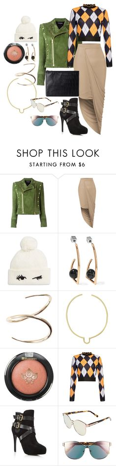 """33"" by chelsofly on Polyvore featuring Balmain, LE3NO, Kate Spade, URiBE, Charlotte Chesnais, Anndra Neen, MSGM, Charles by Charles David, Karen Walker and Status Anxiety"