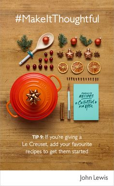 Discover how you can make your gifts more thoughtful this Christmas with John Lewis. If you're thinking of giving Le Creuset to a keen amateur chef, why not add some of your favourite recipes to get them started?   Discover a range of dishes and cookware at John Lewis for gifts that everyone will love this Christmas.