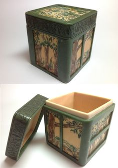 """""""Scribblybarks""""   polymer clay trinket box with lid."""