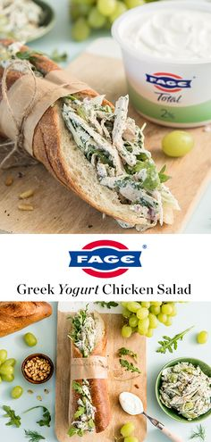 Elevate your favorite lunchtime sandwich with this recipe for Chicken Salad. Healthy Snacks, Healthy Eating, Healthy Recipes, Greek Yogurt Chicken Salad, Brunch, Love Food, Food To Make, Chicken Recipes, Yummy Food