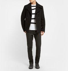 Balenciaga - Slim-Fit Wool-Blend Peacoat|MR PORTER