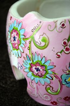 Floral Cranial Band/Helmet DOC Band  https://www.facebook.com/pages/Cranial-BandsMurals-by-Leigh-Gibson/153150921414230