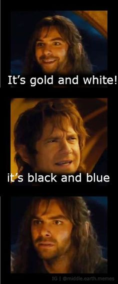 Sorry but Bilbo's right. No seriously he's right! (I also see it blue and black). It was a double exposure, and some people see the white and gold as a result. It's really dark blue and black! XD