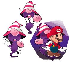 blush curly hair facial hair floating ghost-pepper gloves hair over eyes hat long hair mario mario (series) mustache nintendo overalls paper mario paper mario rpg pink hair simple background smile striped super mario bros. Super Mario Brothers, Super Mario Smash Bros, Mario Und Luigi, Mario Bros., Super Mario Kunst, Mario Video Game, New Tomb Raider, Nintendo World, Paper Mario