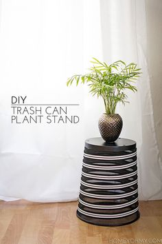 Diy Trash Can Plant Stand
