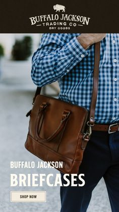 Men's vintage full-grain brown leather briefcases. Our handmade briefcases are where men's fashion meets function. With well-designed space for laptops and more, we craft briefcase bags and briefcases for men who take care of business. Briefcase For Men, Leather Briefcase, Leather Satchel, Leather Men, Leather Bags, Brown Leather, Casual Professional, Waxed Canvas Bag, Rugged Men
