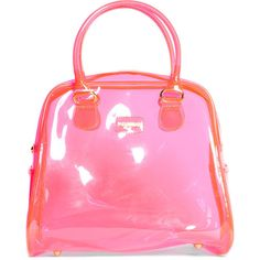 PLASTIC BOWLING BAG - BAGS AND BACKPACKS - WOMAN - United Kingdom ($32) ❤ liked on Polyvore