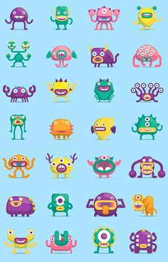 Monsteri Memory game on Behance