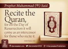 I Love Islam: Daily Hadith - Intercession of Quran for its Recit. Islamic Posters, Islamic Quotes, Muslim Religion, Islam Online, Hadith Quotes, Love In Islam, Islamic Teachings, Prophet Muhammad, Holy Quran