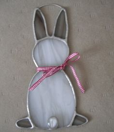 Stained Glass Bunny Rabbit Brown and White                                                                                                                                                                                 More