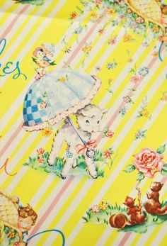 vintage wrapping paper...  how come they dont make it like this anymore?!?