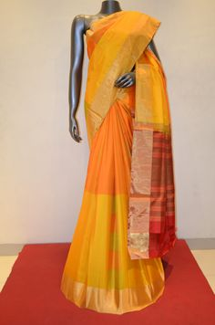Designer Half & Half Yellow With Orange Pure Soft Silk Saree Product Code: AB211473 Online Shopping: http://www.janardhanasilk.com/index.php?route=product/product&search=AB211473&description=true&product_id=3854