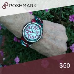 Rose Print Betsey Johnson watch Nwt. HS Betsey Johnson Accessories Watches