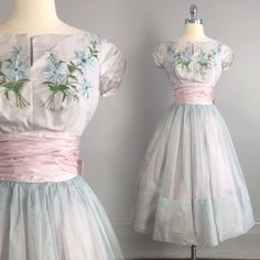 vtg 50s Bombshell PROM PARTY CUPCAKE DRESS fit-n-flare full skirt pinup vlv XS