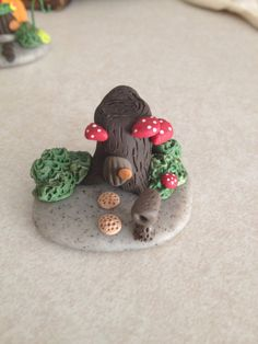 Fairy Houses Set of 3 Polymer Clay Miniature by Whimsybydesign1, $29.00