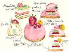Via Gastrophoria Case of the Tasties: Paris Dreams. #Illustration by Carol Gillott