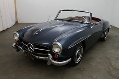 1963 Mercedes-Benz 190SL with 2 tops, blue with red interior, excellent color combination, solex carburetors, clean engine bay, 1 of 104 made in 1963, an original black plate California car that has had the same owner for many years, '63 190SL's had the lowest production of all the years making this a true collector piece, mechanically sound. For $64,500  If you have any additional questions Please call 310-975-0272