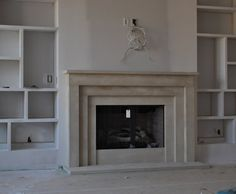 Cast Stone Fireplace mantel Contemporary by stonecrafters2012