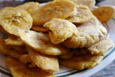 Here's a simple and easy recipe for tostones or twice fried green plantains. A necessary staple in Caribbean cooking.