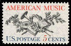 1964 5c American Music Scott 1252 Mint F/VF NH