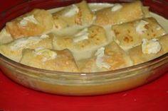 clatite Ana-lugojana banatene 03 Romanian Food, Romanian Recipes, Pudding, Cheese, Cookies, Desserts, Crack Crackers, Tailgate Desserts, Deserts