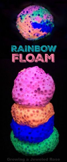 DIY RAINBOW FLOAM; this stuff takes minutes to make & is seriously SO COOl!  Squish it, mold it, and see what if feels like to touch a rainbow!