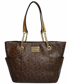 Women's Calvin Klein Monogram Tote Handbag CK Purse Bag « Xquisite Beauty