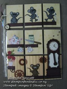 pocket letter with punch art mice