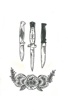 Knife And Dagger Tattoo Designs Tatto Old, Tatoo Henna, I Tattoo, Chest Tattoo, Tattoo Pain, Tattoo Flash, Celtic Tattoos, Star Tattoos, Skull Tattoos